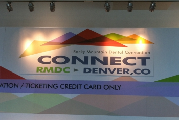 colorful poster of the rocky mountain dental convention