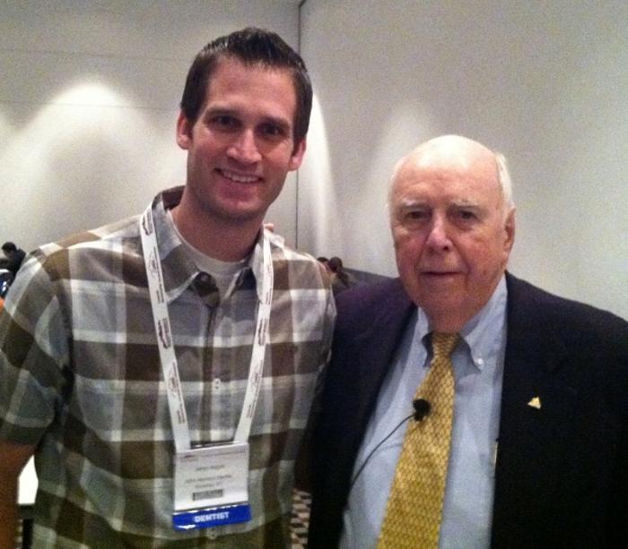 Dr. Argyle standing alongside older dentist