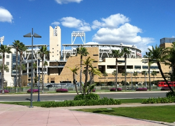 outside view of san diego petco park