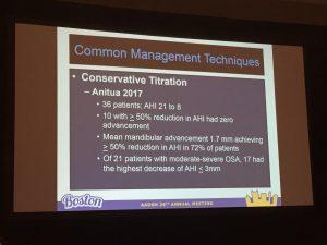 presentation showing a slide on common management techniques