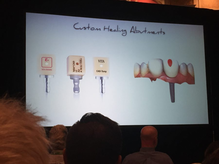 presentation showing a slide on custom healing abutments